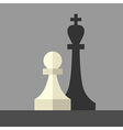 Pawn casting king shadow vector image vector image