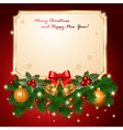 red postcard vector image vector image
