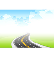 road sky vector image vector image