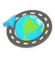 Round the world road trip icon cartoon style vector image vector image