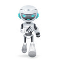 running cute robot innovation technology science vector image vector image