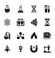 science glyph icons set vector image vector image