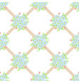 seamless pastel flowers lattice wallpaper vector image vector image