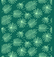 seamless pattern made of palm leaves on white vector image vector image