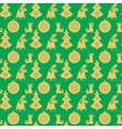 Seamless pattern with Christmas bell with holly a vector image vector image