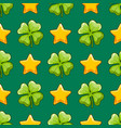 seamless pattern with clover and stars vector image