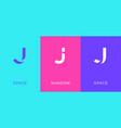 set letter j minimal logo icon design template vector image vector image