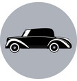 silhouette of small retro car vector image