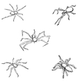 Spiders A sketch by hand Pencil drawing vector image vector image