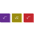 square root icon isolated on background vector image vector image