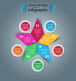 star infographics origami style vector image vector image