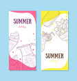 summer holiday banners set with food to summertime vector image