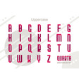 suprematism style decorative alphabet typeface vector image