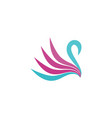 swan abstract logo vector image vector image
