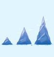 three mountain milestones vector image vector image