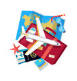 vacation conceptual flat style web banner vector image vector image