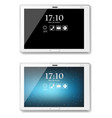 white tablet realistic product packaging vector image vector image