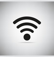 wifi icon on grey background vector image vector image