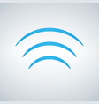 wifi signal waves icon flat design style in blue vector image vector image