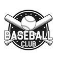 baseball badge or logo vector image