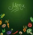 Vegetables menu vector image