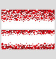 a set of seamless frames for valentines day vector image vector image
