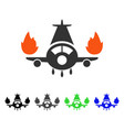 airplane engines burn flat icon vector image vector image