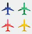 airplane icon Abstract Triangle vector image vector image