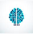 artificial intelligence concept logo design vector image