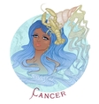 astrological sign cancer as a african girl vector image vector image