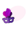 beautifully decorated venetian carnival mask with vector image vector image