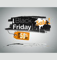 black friday shopping sale vector image vector image