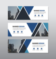 Blue black triangle triangle abstract corporate bu vector image
