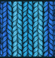 blue hand drawn background of knitted threads vector image vector image