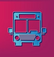bus sign blue 3d printed vector image vector image