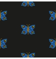 Butterfly mosaic pattern vector image