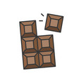 chocolate bar sweets and pastry set filled vector image