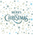 Christmas decoration with snow vector image vector image