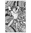 conan warrior barbarian engraved fantasy vector image vector image