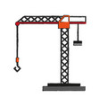 construction crane with hook vector image vector image