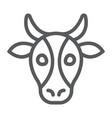 cow line icon animal and zoo cattle sign vector image