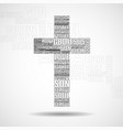 cross of religious words christian symbol vector image vector image