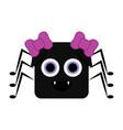 cute halloween spider cartoon character vector image