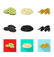 design of burger and sandwich sign set of vector image