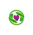 farm foundation logo design template vector image
