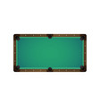 flat billiard pool snooker empty table vector image