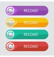 flat buttons reload vector image vector image