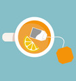 flat icon cup of tea vector image vector image