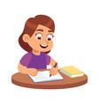 girl at school desk smiling child sitting
