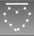 glowing garland in the shape of heart vector image vector image